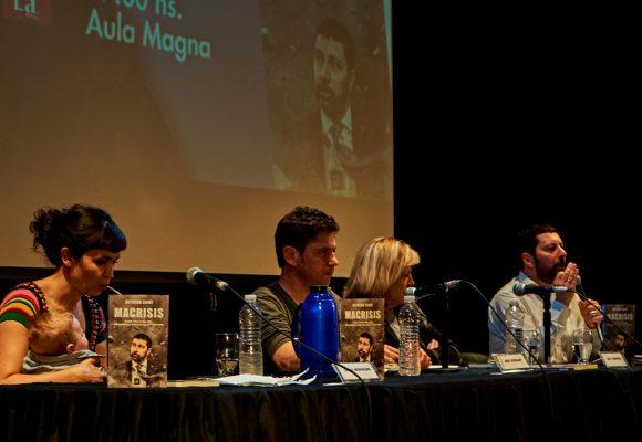 Alfredo Zaiat presentó Macrisis junto a Axel Kicillof en la Universidad de Lanús
